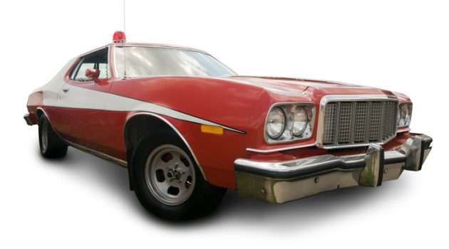 """A 1975 Ford Gran Torino (featured in Starsky & Hutch).  Vehicle has clipping path, excluding shadow."""